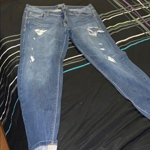New York & Company low rise slim slouch leg jeans